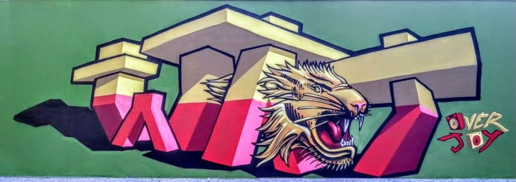 Overjoy graffito