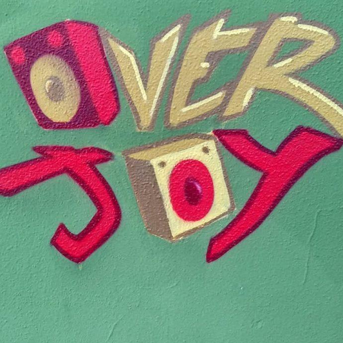 overjoy logo graffito